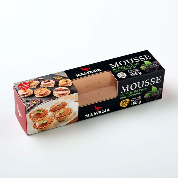 Mousse de Foie Ciruelas MINI 100 Estuchado