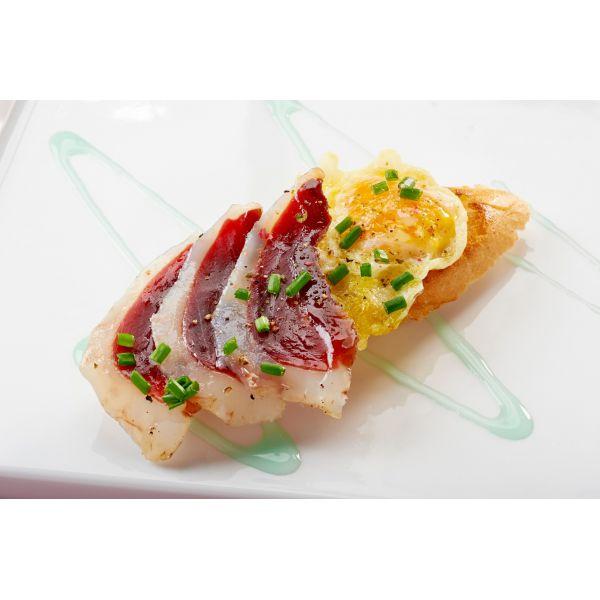 Jamón de Pato con Huevo - Receta Malvasia